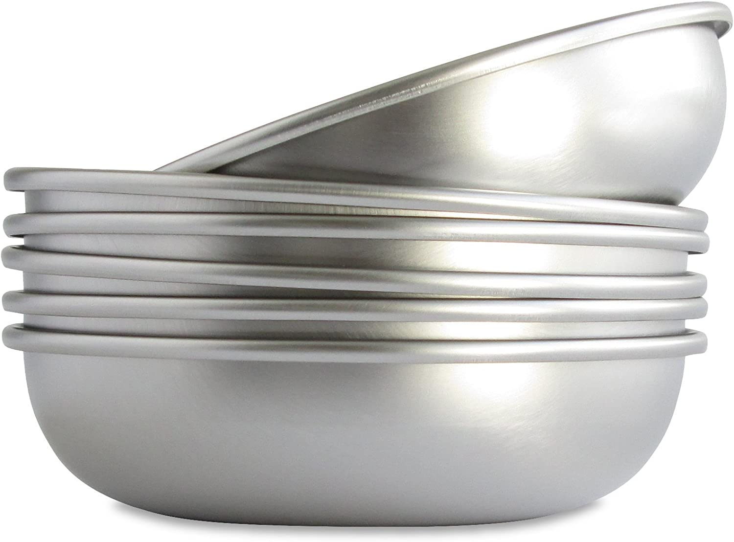 Basis Pet Made in the USA Low Profile Stainless Steel Cat Dish