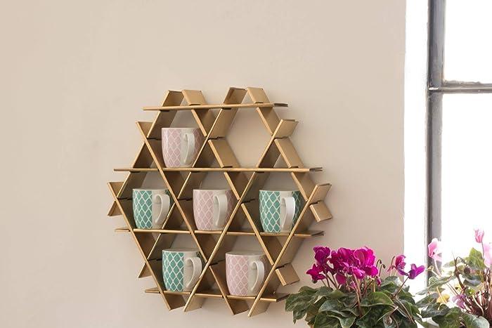 Amazoncom Kitchen Shelf Gold Coffee Cup Holder Coffee Mug Rack
