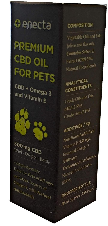 ENECTA Aceite por Mascotas 5% CBD: Amazon.es: Productos para mascotas