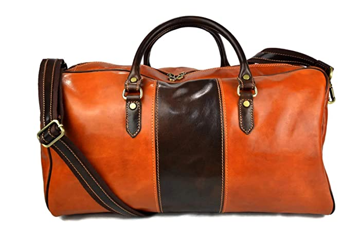 88734e0c13b0 Amazon.com: Leather duffle bag genuine leather shoulder bag honey ...