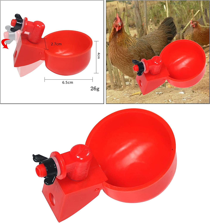 Automatique en Plastique Volaille Buveurs deau Potable Distributeur Feeder Bols deau Syst/èmes pour Cailles D de Pigeon Fenteer Buveur de Poulet
