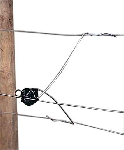 50 x ELECTRIC FENCE FENCING STAND OFF WIRE OFFSET WITH PINLOCK INSULATORS
