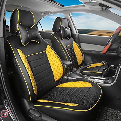 Auto Decorun Custom Fit Automotive Seat Covers For Mitsubishi Outlander Pajero Sport Grandis Perforated Leatherette