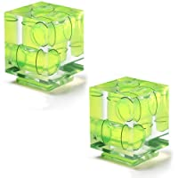 Neewer® 2 Pack Three Axis Hot Shoe Bubble Spirit Level for Canon Nikon DSLR Cameras,Great for Panoramic Photography,Photo Stitching,Architecture Photography,Video Panorama and Perspective Control