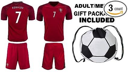 ad9867195 Fan Kitbag Ronaldo  7 Portugal Home Youth Soccer Jersey   Shorts Kids  Premium Gift Kitbag