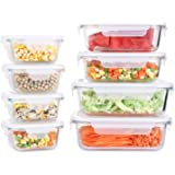 Fresh Friend Glass Food Storage Containers with Lids BPA-Free, Airtight Meal Prep Containers for Lunch, Leak Proof…