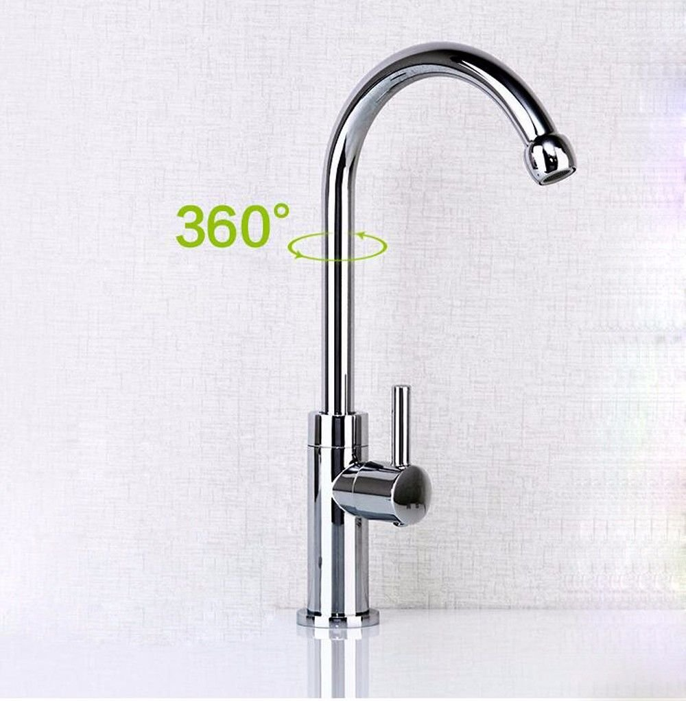 Lalaky Taps Faucet Kitchen Mixer Sink Waterfall Bathroom Mixer Basin Mixer Tap for Kitchen Bathroom and Washroom Single Cold High-Bend Single Cold