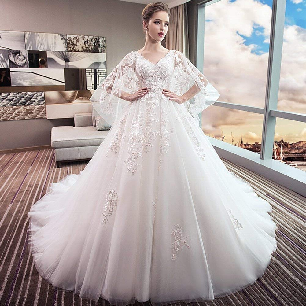 YT-ER Vestido de Novia de Su Madre de Gran Tamaño Princesa Final Sueño Vestido de Novia de Las Mujeres Embarazadas Vestido de Ángel del Vientre, ...