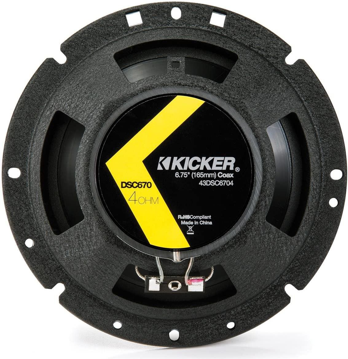 "2 Kicker 43DSC6704 D-Series 6.75"" 240W 2-Way 4-Ohm Car Audio Coaxial Speakers"