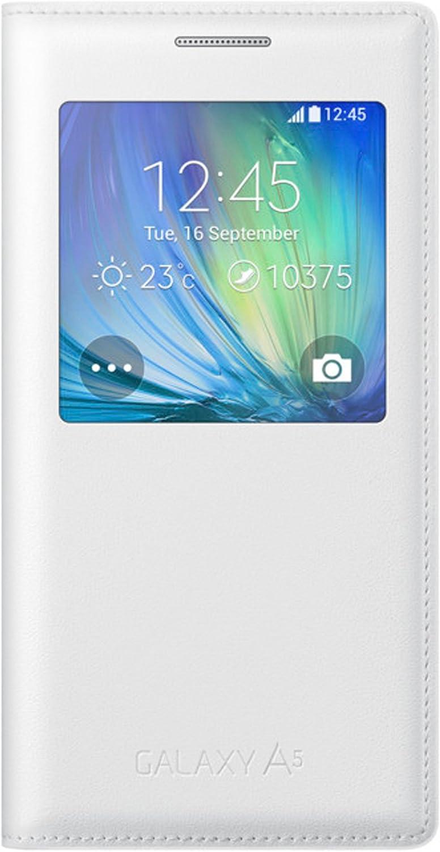 Samsung S-View - Funda oficial para Samsung Galaxy A5 (2015), color blanco: Amazon.es: Electrónica