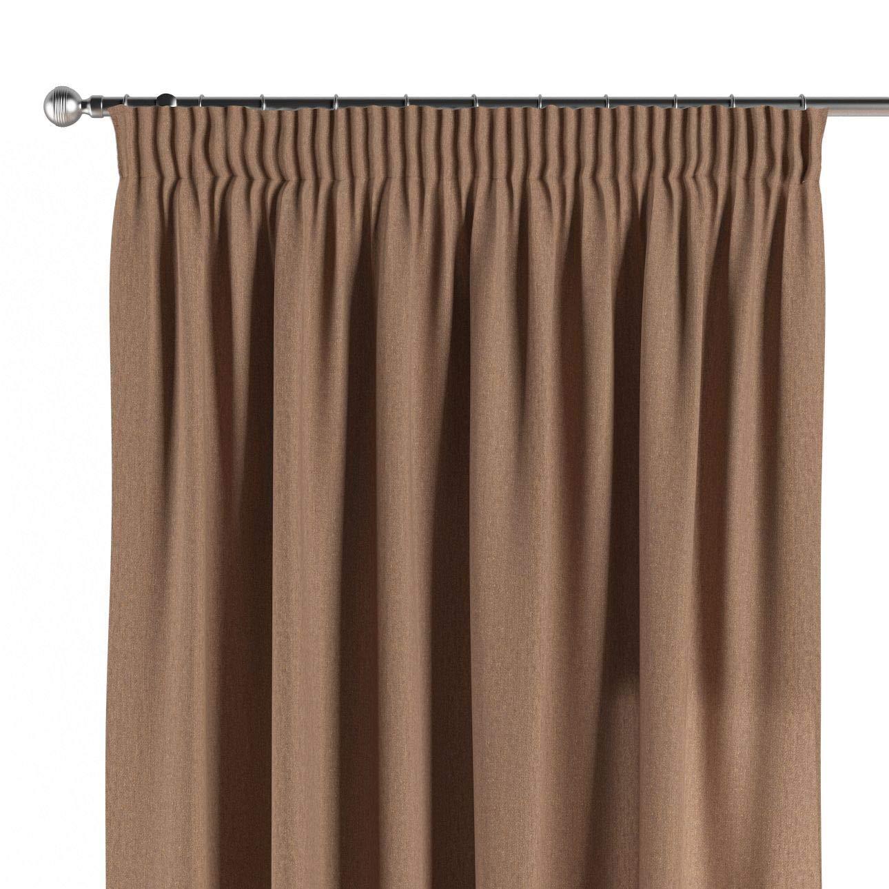 Dekoria Vorhang mit Kräuselband Dekoschal Blickdicht 1 Stck. 130 × 260 cm Caffe Latte Maßanfertigung möglich