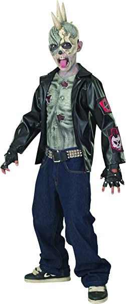 Rubies Zombie Punk Rocker Girls New Halloween Horror Party Fancy Dress Costume