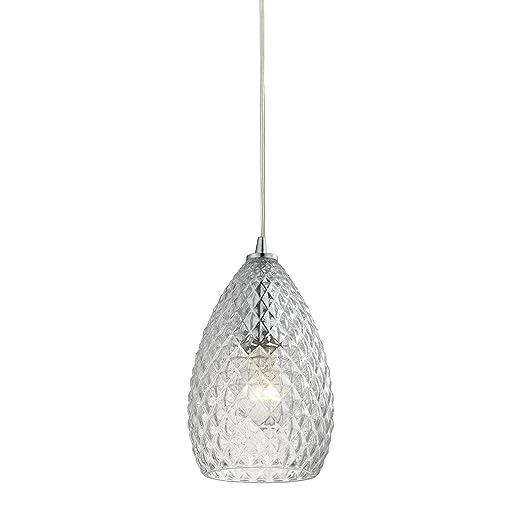 Amazon.com: Geval 1 Lámpara de techo con acabado cromado ...