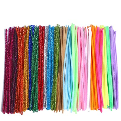 COCODE Pipe Cleaners for Crafts, 300Pcs 20 Colors Chenille Pipe Cleaners for Kids Creation Animals Characters Handcrafts Art Craft Project, 6 mm x 12 Inch DIY Activity Gift Decoration Ornaments: Arts, Crafts & Sewing