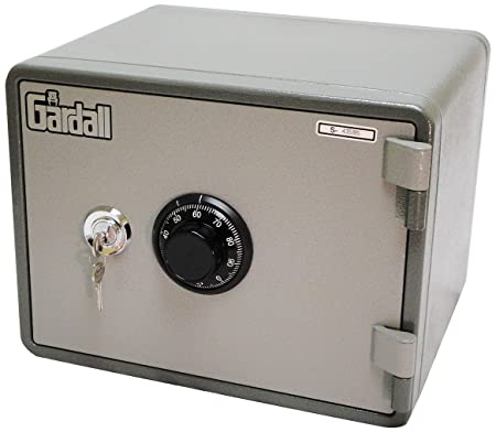 Gardall MS911-G-CK w One Hour Horizontal Microwave Style Fire Safe with Key Combination Lock, Grey