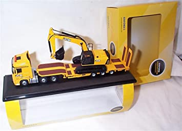 Mercedes Actros Semi Low Loader JCB 1-76 scale new 76MB010