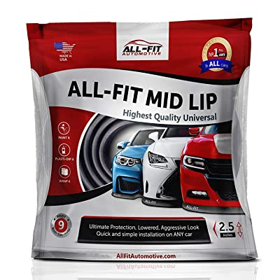 All-Fit Automotive 2.5 Inch Universal Bumper Lip Splitter Kit - Chin Spoiler Protector for Front or Rear - Lips Protect and Cover Lower Bumper for a Dropped Look - Universal Fit: Automotive