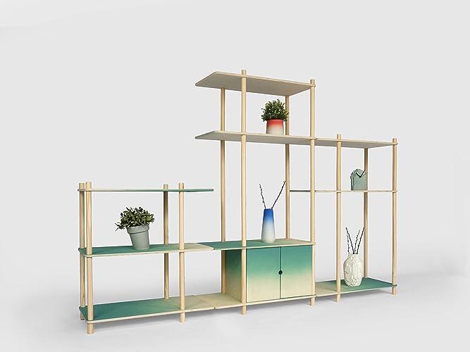 Superbe Pente étagère Modulaire Grand   Decoration Bois Etagere Chambre Salon Meuble S  Rangement Bibliotheque Cube