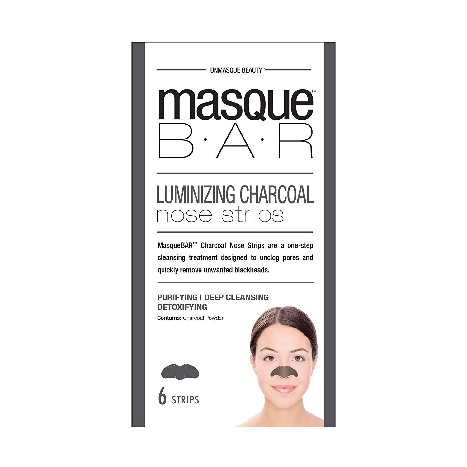 masque Bar Charcoal Nose Strips w/Witch Hazel - Refining Mask To Unclog Pores & Remove Blackheads - Made in Korea Look Beauty Inc LB00678