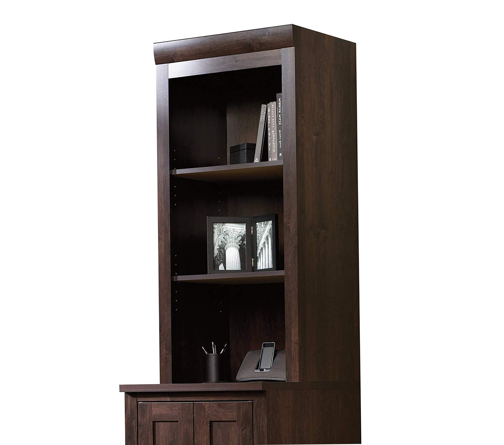 Sаudеr Deluxe Premium Collection Office Port Hutch L: 23.39'' x W: 15.63'' x H: 47.17'' Dark Alder Finish Decor Comfy Living Furniture by Sаudеr (Image #1)
