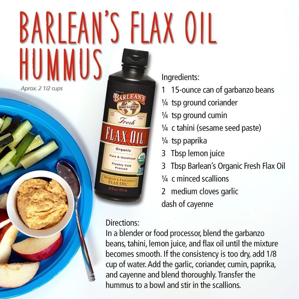 Barlean's Fresh Organic Flax Oil, 32-oz by Barlean's Organic Oils (Image #4)