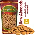 We Got Nuts Jumbo California Almonds 64oz (4 Pounds) (Whole, Naturel, Non Gmo, No PPO, Raw, Shelled, Unsalted)