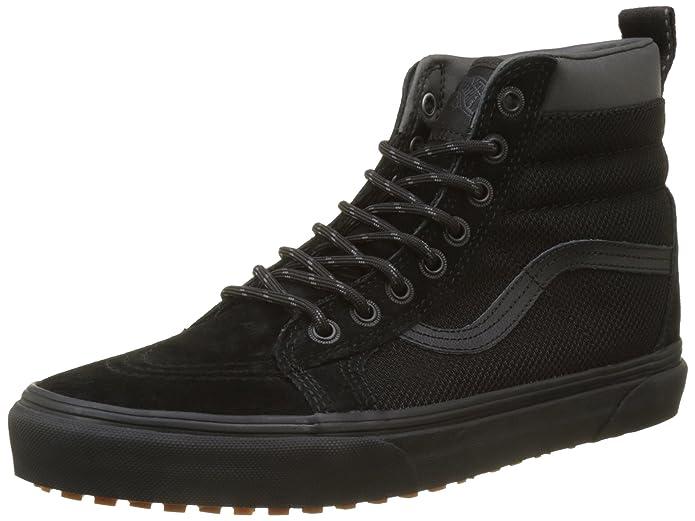 Vans Sk8-Hi Lite Plus, Sneakers Hautes Mixte Adulte, Noir (Canvas/Black/Black), 36 EU (3.5 UK)
