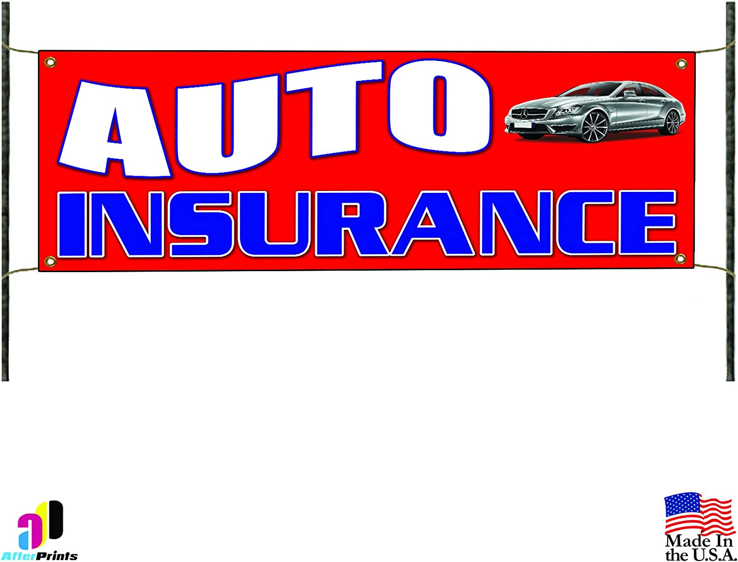 Amazon Com Auto Insurance Car Motorcycle Theft Protection Store Business Vinyl Banner Sign Office Products