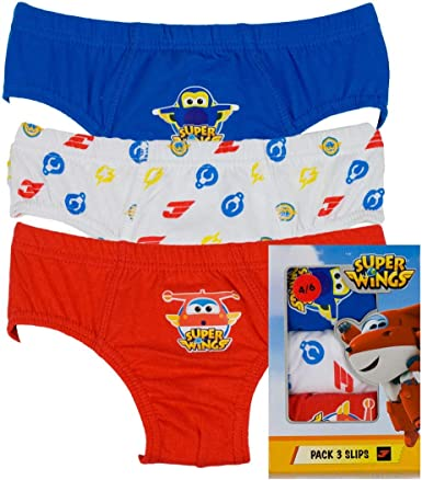 Disney - Slip Super Wings NIÑO Pack/3 niños Color: Surtido Talla: 3/4: Amazon.es: Ropa y accesorios
