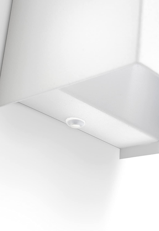 3 W luz blanca c/álida 10 x 9 x 14 cm Aplique LED Philips myLiving Hopsack color blanco IP20 iluminaci/ón de interior