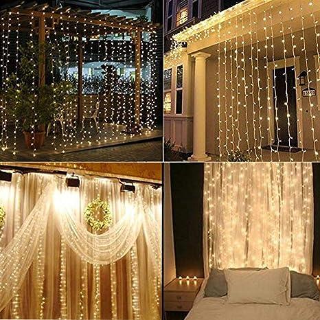 Christmas Light Curtains.Christmas Light Curtain String Flisol Home