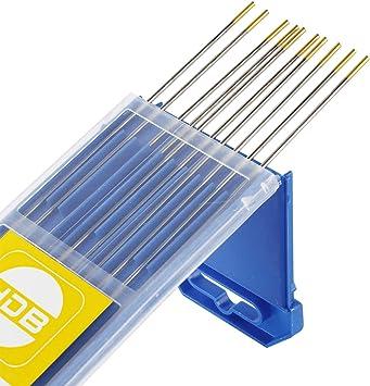 10 x Wolframelektroden Grau WC20 3,2 x 175 zum WIG  DC-Schweißen Wolframnadeln