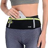 USHAKE Slim Running Belt, Workout Fanny Pack for Men Women,Exercise Waist Pack for Apple iPhone Holder, Runner Belt for Runni