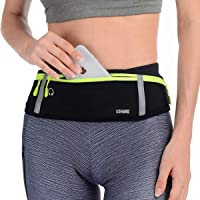 UShake Slim Running Belt, Bounce Free Pouch Bag, Fanny Pack Workout Belt Sports Waist Pack Belt Pouch for Apple iPhone…