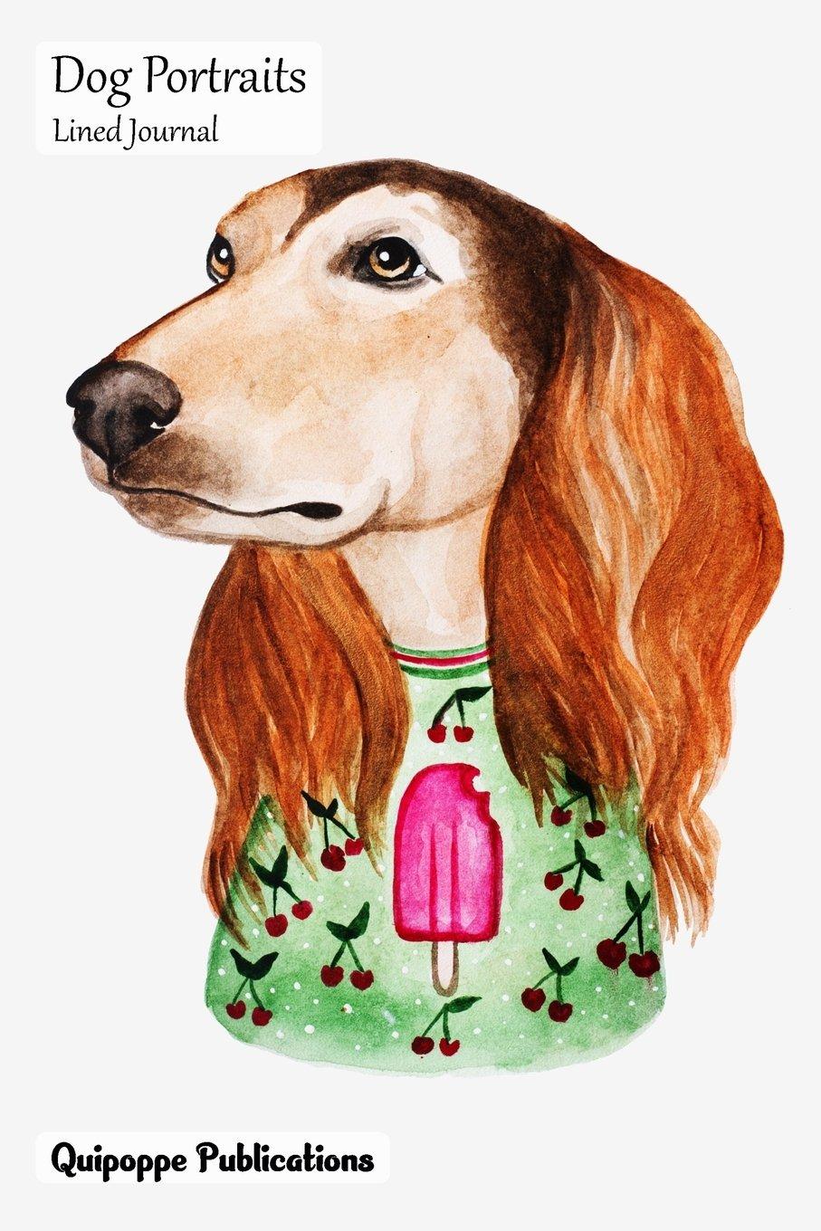 Read Online Dog Portraits Lined Journal: Medium College Ruled Notebook With Saluki Cover pdf epub