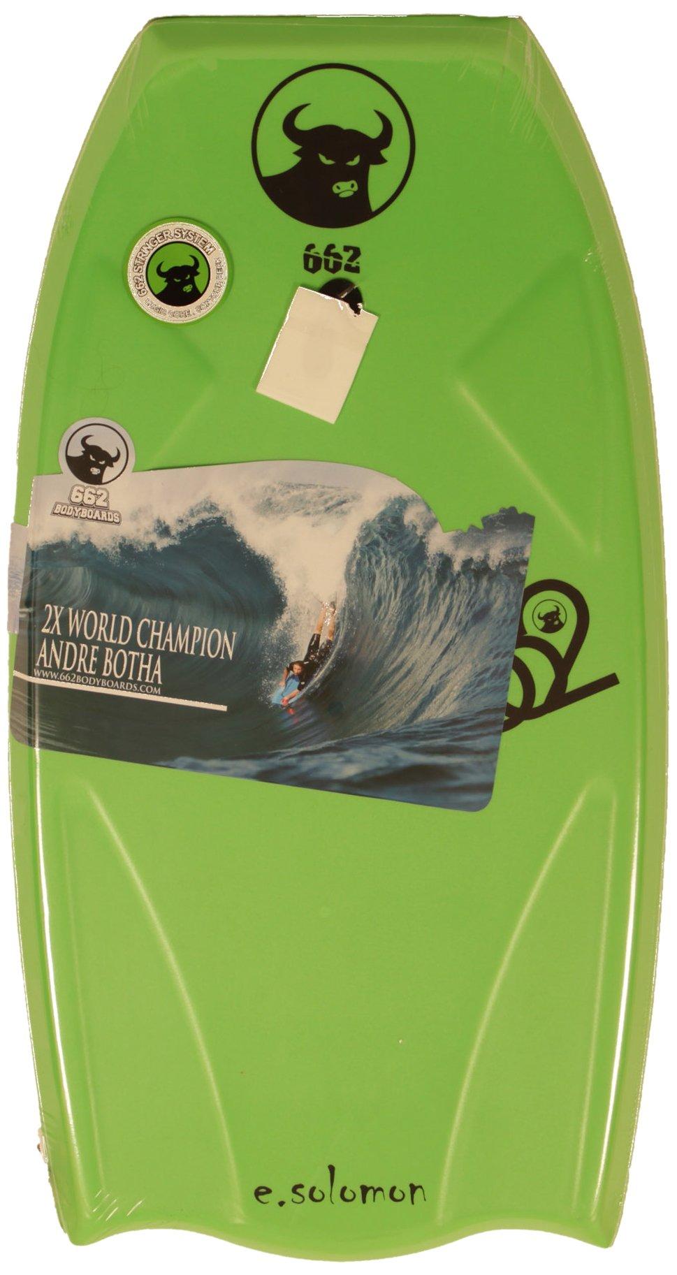 662 HD Eddie Solomon Graphic Bodyboard, Green, 42.5-Inch
