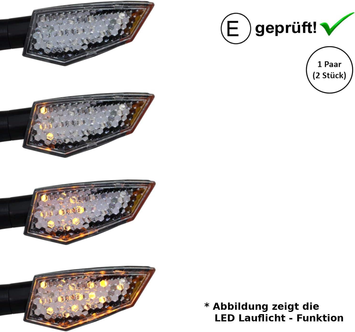 certificado E // 2 unidades 950 XV 1700 XV 1600 920 1000 B20 Intermitente LED compatible con Yamaha XV 1900