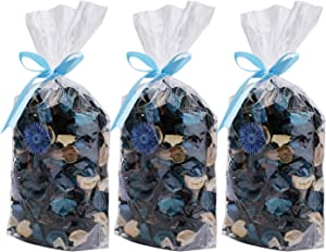 Yesland 3 Pack Potpourri Bag, Ocean Scent Fresh Perfume Sachet of Dried Flower Petals, Perfect Bowl and Vase Decorative Filler for Home & Office, 5oz (Blue)