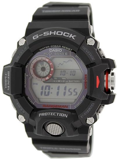Amazon.com: Casio GW-9400-1ER Mens G-Shock Radio Controlled Solar Black Resin Strap Watch: Watches