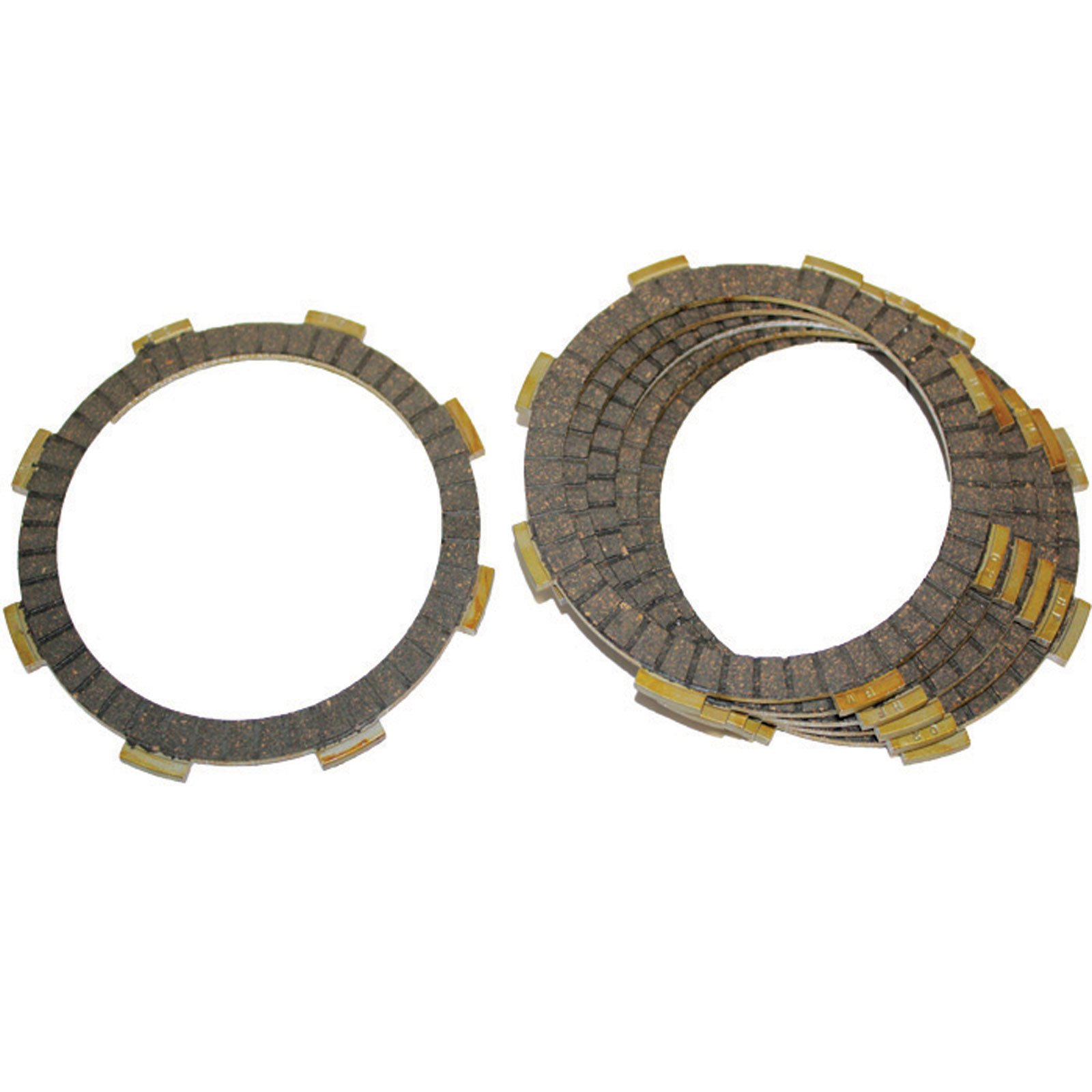 Caltric FRICTION CLUTCH PLATE Fits HONDA CMX250 CMX-250 CMX250C REBEL 250 CMX250C2 1985-2012 6-PLATES by Caltric (Image #1)