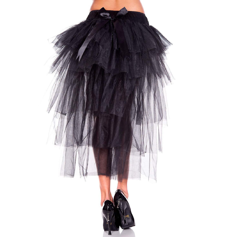 fa2446789 Amazon.com: MUSIC LEGS Women's Long Back Multi Layered Skirt, Black, One  Size: Clothing