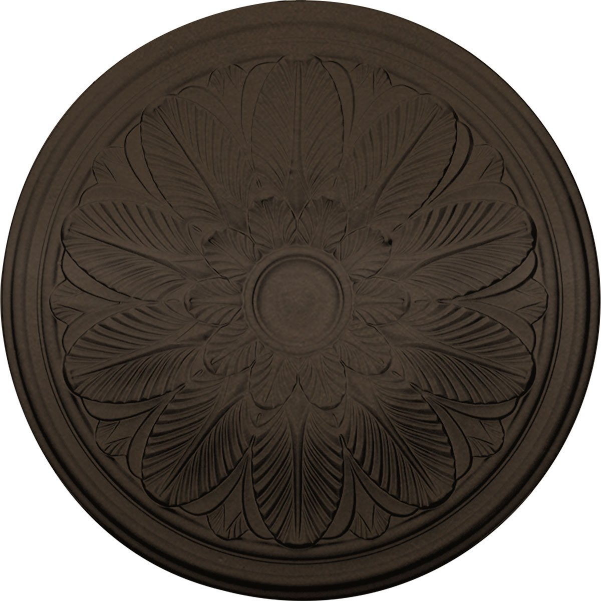 Ekena Millwork CM22BOBZS 22 5/8'' OD x 1 3/4'' P Bordeaux Ceiling Medallion fits Canopies up to 3 1/4'', Bronze