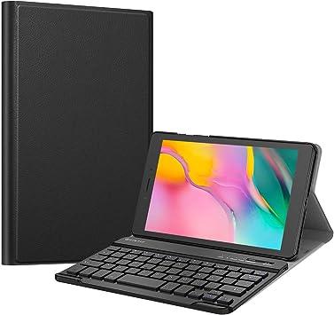 Fintie Funda con Teclado Inglés para Samsung Galaxy Tab A 8.0 2019 Modelo SM-T290 Wi-Fi, SM-T295 LTE, Negro
