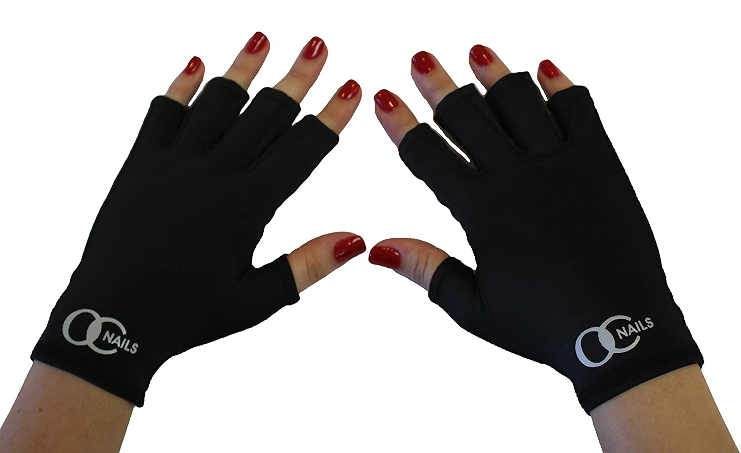 OC Nails UV Shield Glove For Gel Manicures With UV/LED Lamps (Black ...
