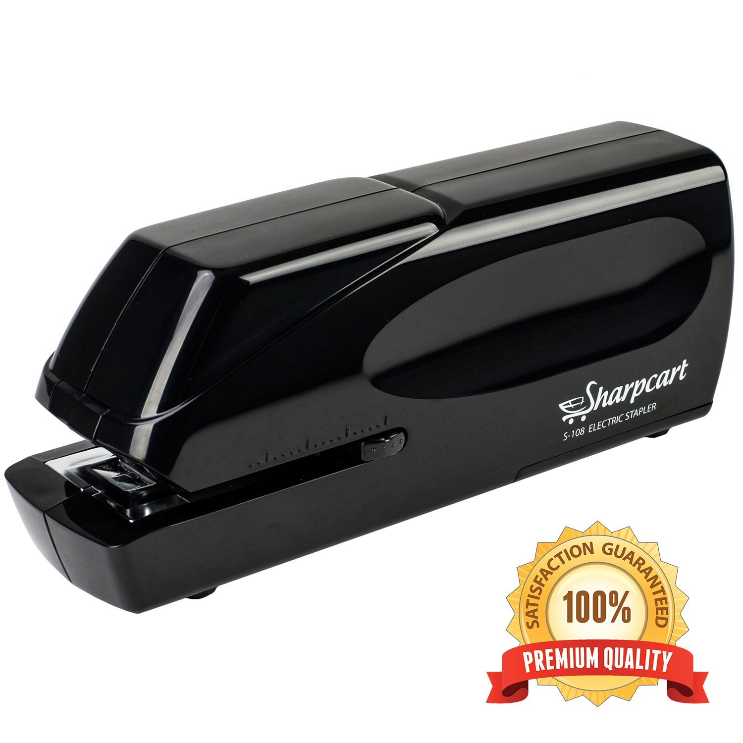 25 Sheet Capacity Electric Stapler - Automatic Heavy Duty No-Jam Stapler - Battery Operated or AC Powered (AC Power Adapter Included) - 100% Satisfaction Guarantee by Sharpcart by OYFFSTORE