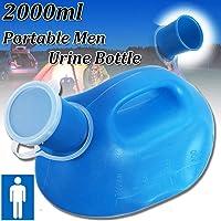 Essort Homme Urinoir, 2000 ml Portable Bouteille d'urine, convient pour hommes, vieux Hommes et Paralysées patients - Idée pour voiture Voyage Camping Caravane (26.5 x 14 x 16 cm)