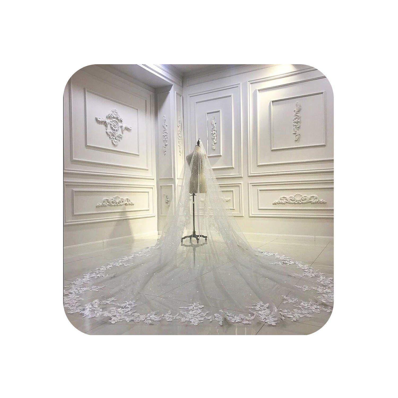 Luxury wedding veil long, bridal veil,Marfil,300 cm
