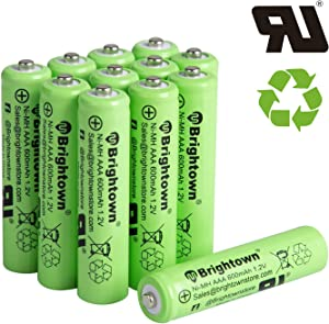 12 Pack Ni-Mh 600 mAh AAA Pre-charged Rechargeable Batteries Solar Batteries for Solar Lights