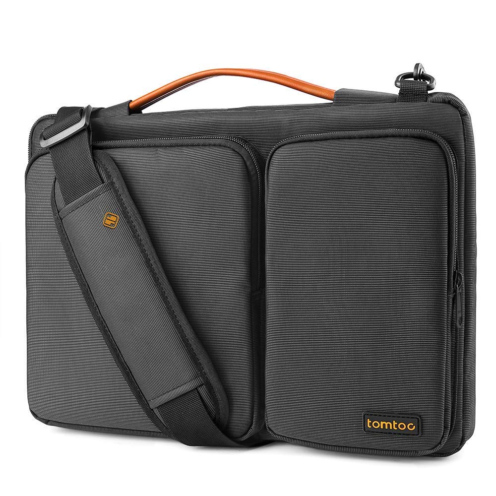7b8e574381 tomtoc 14 Inch Laptop Shoulder Bag with CornerArmor Protection