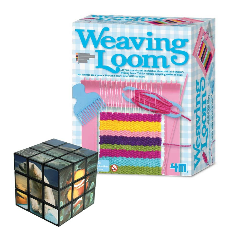 Amazing Gift Ideals Loom Creative Knitting Activity Kit - Comes with a Fun Sealife Magic Cube Puzzle The Good Gift Gallery